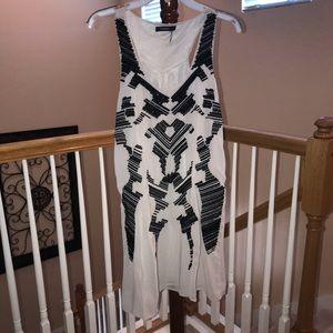 Gray w/ Black Sequins Raceback Top Dress